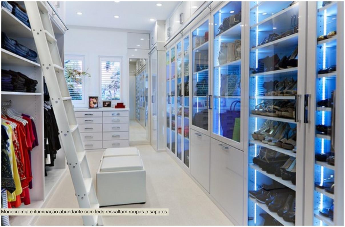 closet branco com leds
